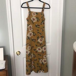 Mustard flower dress
